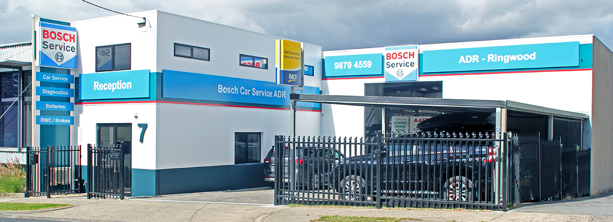 Cars At Bosch Car Service Ringwood About To Receive Brake Service And Repairs