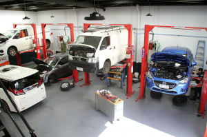 Photo Of Cars Receiving Brake Service And Repairs